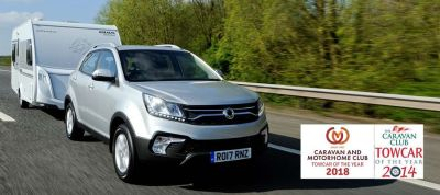 SsangYong Korando Wins Caravan & Motorhome Club Towcar of the Year