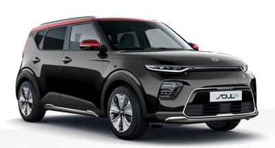 Kia Soul Ev - Available In Quartz Black With Red Roof