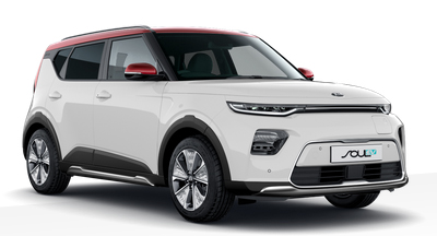 Kia Soul Ev - Available In Clear White With Red Roof