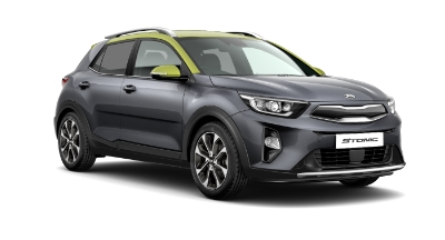 Kia Stonic - Available In Graphite With Lime Green Roof